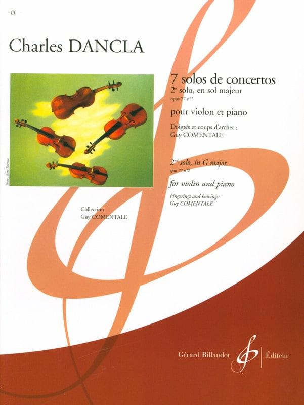Solo de concerto n° 2 op. 77 en sol majeur - DANCLA - laflutedepan.com