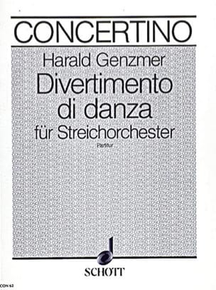 Divertimento di danza - Partitur Harald Genzmer Partition laflutedepan