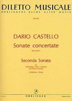 Seconda Sonata Sonate concertante, Libro 1 -2 Blockflöten Bc - laflutedepan.com