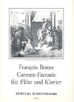 Carmen-Fantasie -flute piano François Borne Partition laflutedepan