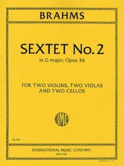 Sextet n° 2 in G major op. 36 -Parts BRAHMS Partition laflutedepan