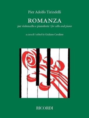 Romanza Pier Adolfo Tirindelli Partition Violoncelle - laflutedepan