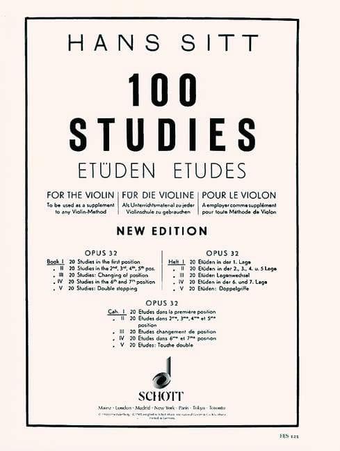 100 Etudes op. 32 - Cahier 1 - Hans Sitt - laflutedepan.com