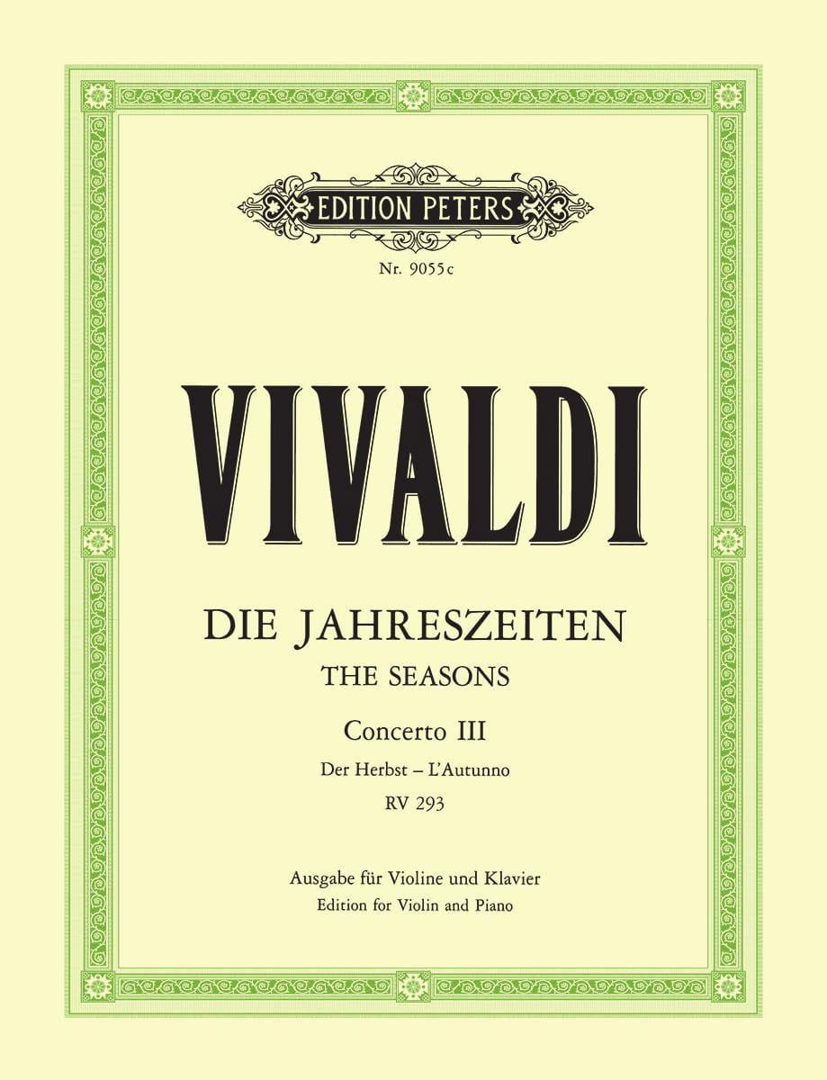 Concerto L'Autunno op. 8 n° 3 - VIVALDI - Partition - laflutedepan.com