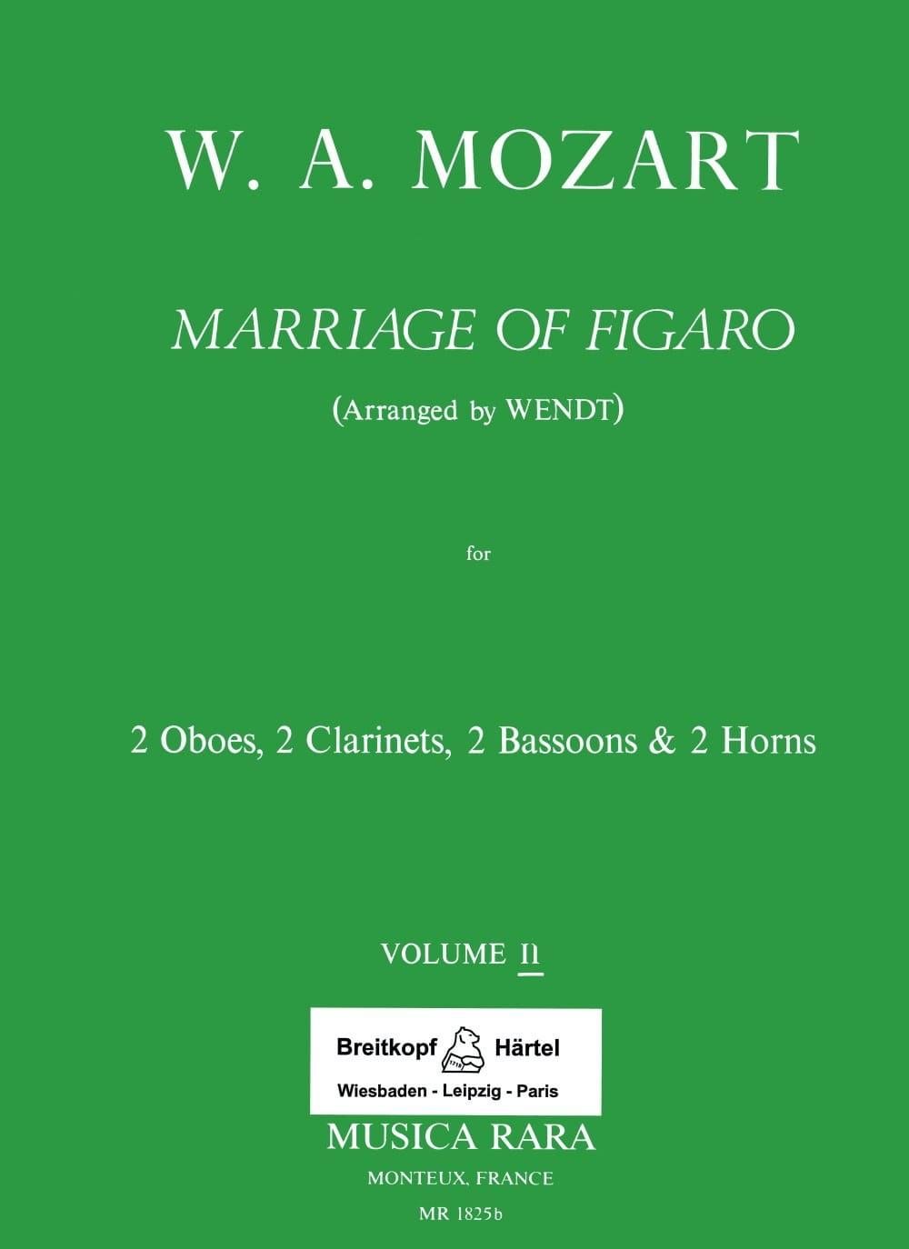 Le Nozze di Figaro Volume 2 -Harmoniemusik - Score + Parts - laflutedepan.com
