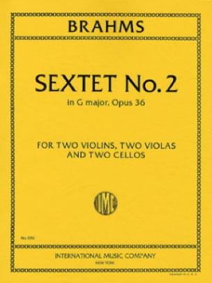 Sextet n° 2 in G major op. 36 -Parts - BRAHMS - laflutedepan.com