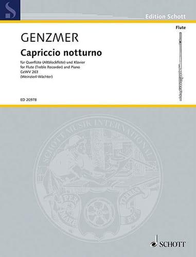 Cappriccio Notturno Ge Wv263 - Harald Genzmer - laflutedepan.com