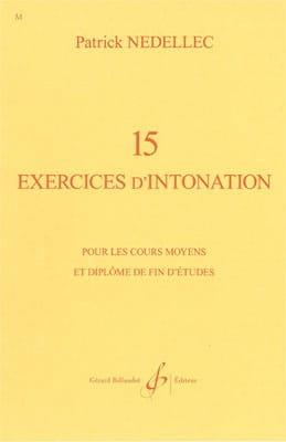 15 Exercices d'intonation Patrick Nedellec Partition laflutedepan