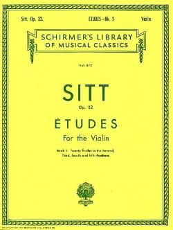 Etudes op. 32 - Book 2 Hans Sitt Partition Violon - laflutedepan