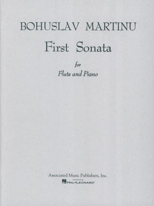 First Sonata - Flute piano MARTINU Partition laflutedepan