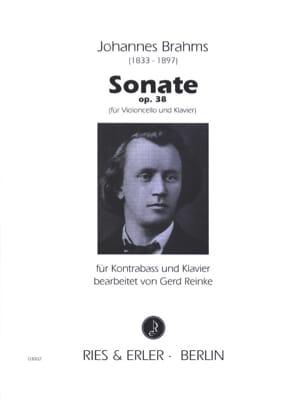 Sonate op. 38 - Kontrabass BRAHMS Partition Contrebasse - laflutedepan