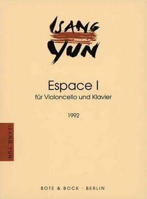 Espace I 1992 - Isang Yun - Partition - Violoncelle - laflutedepan.com