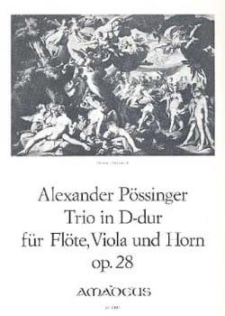 Trio D-Dur op. 28 -Flöte Viola Horn - Partitur + Stimmen laflutedepan