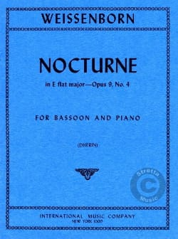 Nocturne Mib Majeur op 9 n° 4 Julius Weissenborn laflutedepan