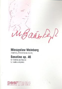 Sonatine op. 46 Mieczyslaw Weinberg Partition Violon - laflutedepan