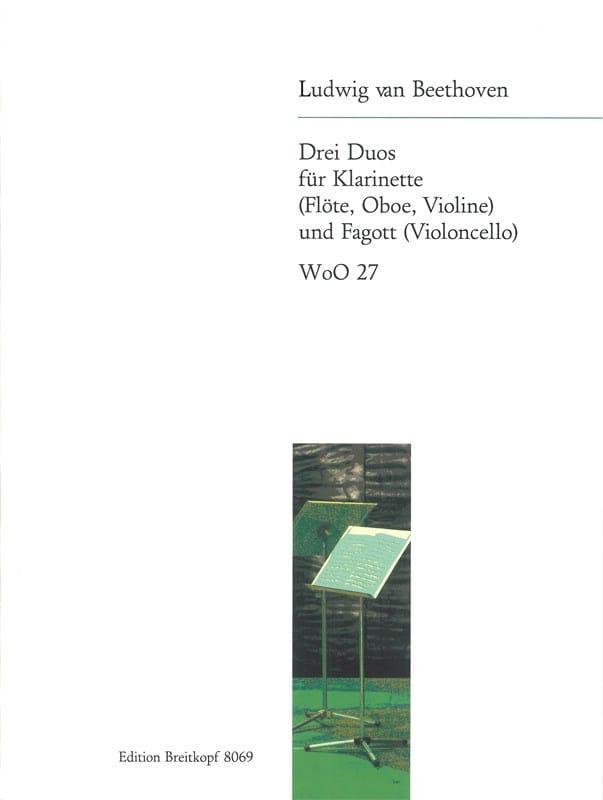 3 Duos - Klarinette u. Fagott - BEETHOVEN - laflutedepan.com