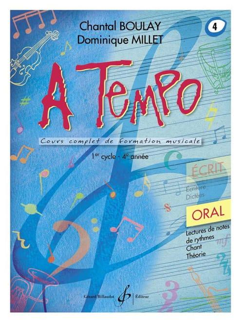 A Tempo Volume 4 - Oral - BOULAY - MILLET - laflutedepan.com