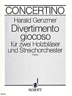 Divertimento giocoso - Partitur Harald Genzmer Partition laflutedepan