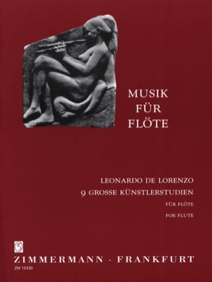 9 Grosse Künstlerstudien - Flöte Leonardo de Lorenzo laflutedepan
