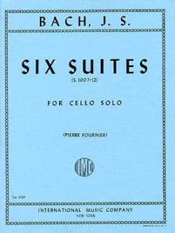 BACH - 6 Suites For Cello Only Fournier - Partition - di-arezzo.co.uk