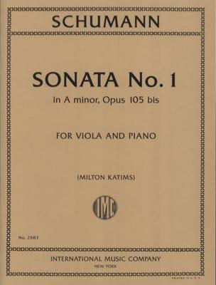 Sonate n° 1 en la mineur op. 105bis SCHUMANN Partition laflutedepan