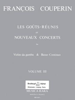 Les Goûts réunis ou Nouveaux Concerts - Volume 3 COUPERIN laflutedepan
