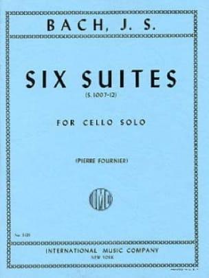 6 Suites Pour Violoncelle Seul Fournier - BACH - laflutedepan.com