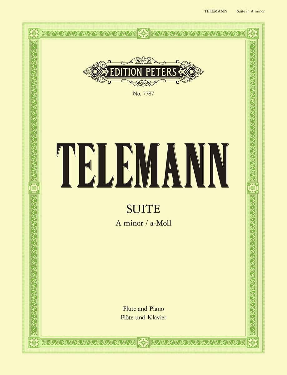 Suite en la Mineur - TELEMANN - Partition - laflutedepan.com