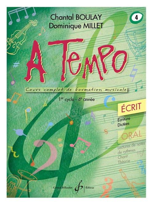 A Tempo Volume 4 - Ecrit - BOULAY - MILLET - laflutedepan.be