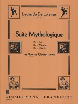 Suite mythologique op. 38 Leonardo de Lorenzo Partition laflutedepan