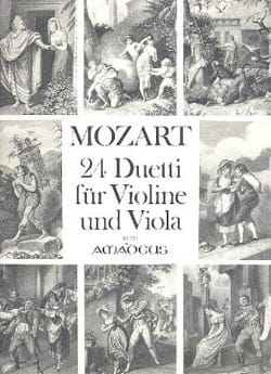 24 Duetti für Violine und Viola MOZART Partition 0 - laflutedepan
