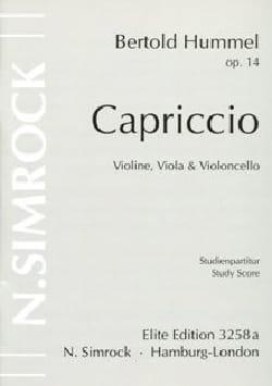 Capriccio -Stimmen HUMMEL Partition Trios - laflutedepan