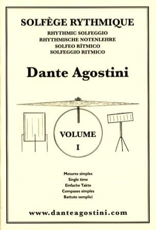 Solfège Rythmique Cahier N° 1 Dante Agostini Partition laflutedepan