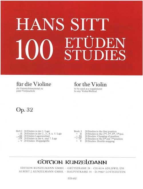 100 Etudes op. 32 - Cahier 3 - Hans Sitt - laflutedepan.com