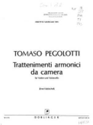 Trattenimenti Armonici Da Camera - Tomaso Pegolotti - laflutedepan.com