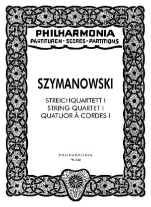 Streichquartett Nr. 1 op. 37 - Partitur SZYMANOWSKI laflutedepan