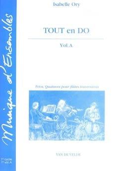 Tout en Do - Volume A Isabelle Ory Partition laflutedepan