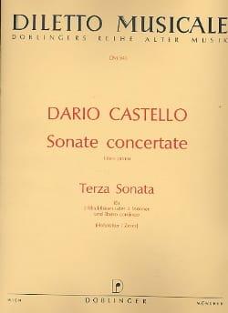 Terza Sonata Sonate concertante, Libro 1 -2 Blockflöten Bc laflutedepan