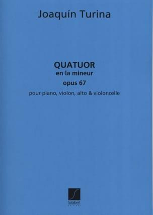 Quatuor en la mineur op. 67 -Parties TURINA Partition laflutedepan