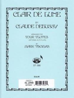 Clair de lune - 4 Flûtes DEBUSSY Partition laflutedepan