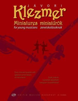 Klezmer Miniatures Ferenc Javori Partition Quatuors - laflutedepan