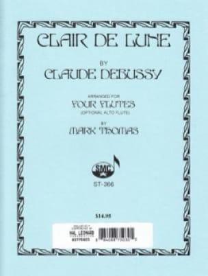 Clair de lune - 4 Flûtes - DEBUSSY - Partition - laflutedepan.com