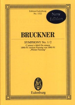 Sinfonie Nr. 1/2 BRUCKNER Partition Petit format - laflutedepan