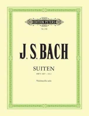 Suiten BWV 1007-1012 Becker BACH Partition Violoncelle - laflutedepan