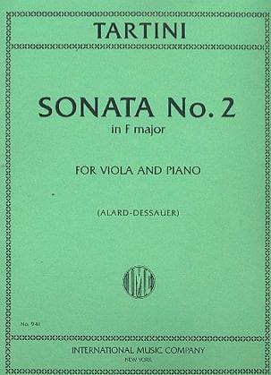 Sonata n° 2 in F major TARTINI Partition Alto - laflutedepan