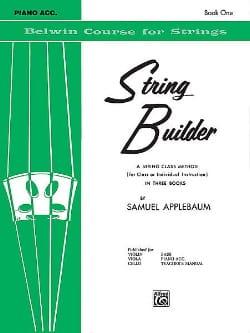String Builder Volume 1 - Piano Accompaniment laflutedepan