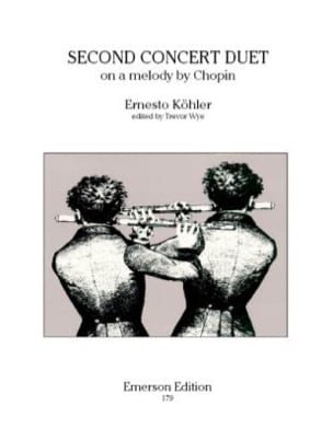 Second concert duet op. 68 Ernesto KÖHLER Partition laflutedepan