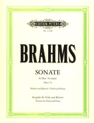 Sonate en Sol Majeur Op.78 - Alto et Piano BRAHMS laflutedepan