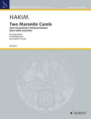 Deux Noëls Maronites Naji Hakim Partition Quatuors - laflutedepan