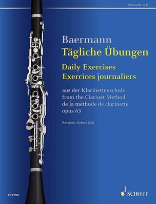 Exercices journaliers pour clarinette Carl Baermann laflutedepan